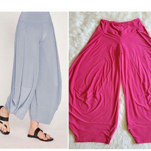 Sympli Canada Dream Harem Lagenlook Pink Pants 10